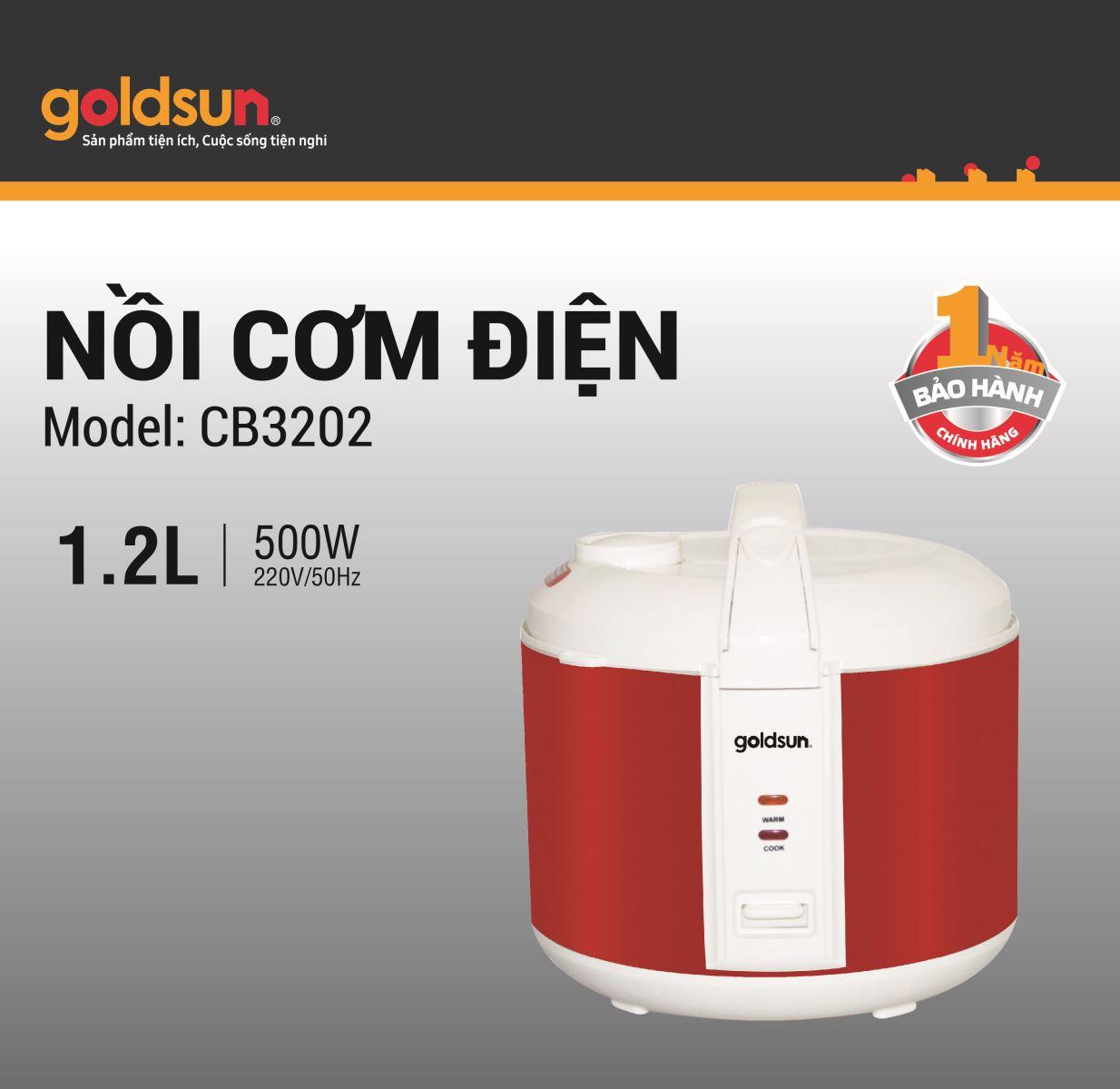Nồi cơm điện Goldsun CB3202 (1,2 lít)